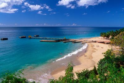 Aerial View of Playa Crashboat, Puerto Rico-George Oze-Photographic Print