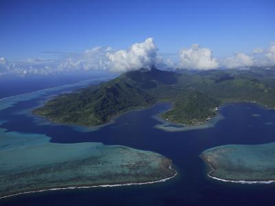 Aerial View of Raiatea Island-Stephen Alvarez-Photographic Print