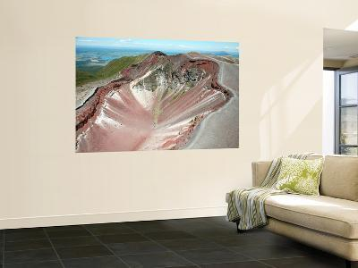 Aerial View of Rhyolite Dome Complex, Mount Tarawera Volcano, New Zealand-Stocktrek Images-Wall Mural