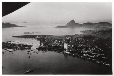 Aerial View of Rio De Janeiro, Brazil, from a Zeppelin, 1930--Giclee Print