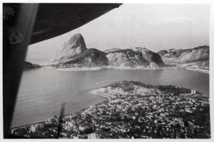 Aerial View of Rio De Janeiro, Brazil, from a Zeppelin, 1930