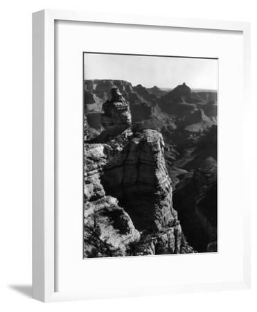 Aerial View of Rock Formation in the Grand Canyon-Margaret Bourke-White-Framed Premium Photographic Print