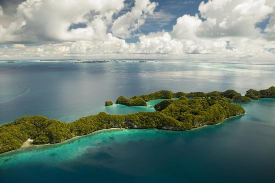 Aerial View of Rock Islands of Palau, Micronesia-Michel Benoy Westmorland-Photographic Print