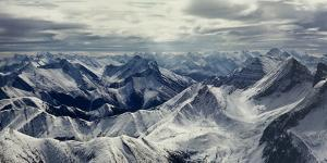 Aerial View of Rocky Mountains, Banff National Park, Alberta, Canada