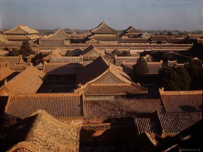 Aerial View of Rooftops in the Forbidden City-Dmitri Kessel-Photographic Print