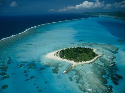 Aerial View of Saipan Island in Micronesia-Paul Chesley-Photographic Print