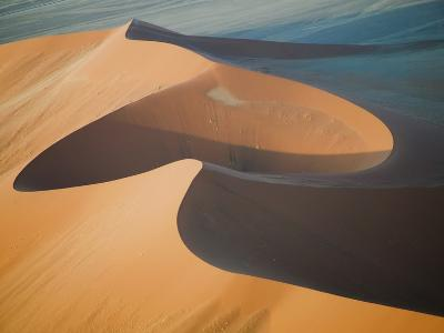 Aerial View of Sand Dunes, Great Red Sand Dunes, Soussevlei, Namibia-Ellen Anon-Photographic Print