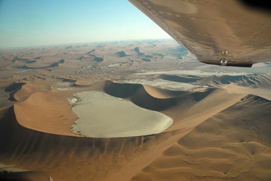 Aerial View of Sand Dunes of Namibia-Anne Keiser-Photographic Print