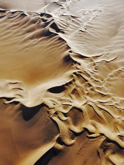 Aerial View of Sand Dunes-Martin Harvey-Photographic Print