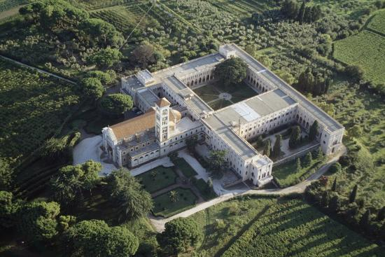 Aerial View of Santa Rosa Home of Franciscan Missionary Sisters of Mary--Photographic Print