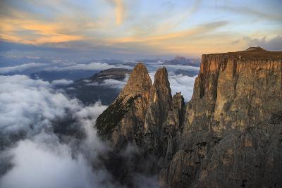 Aerial View of Santner Peak at Sunset-Roberto Moiola-Photographic Print