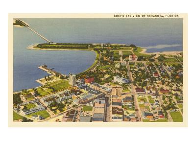 Aerial View of Sarasota, Florida--Art Print