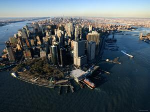 Aerial View of Skyscrapers and High-Rises in New York City