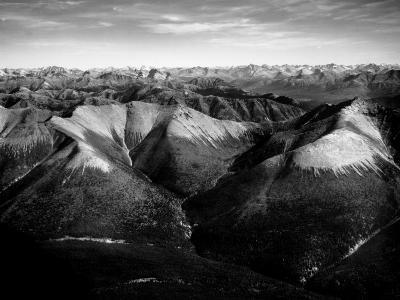 Aerial View of Snow-Capped Mountain Range in the Wenner-Gren Land Development Area-Margaret Bourke-White-Photographic Print