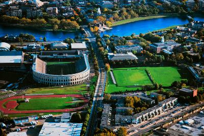 Aerial View of Soldiers Field, home of Harvard Crimson, Harvard, Cambridge, Boston, MA--Photographic Print