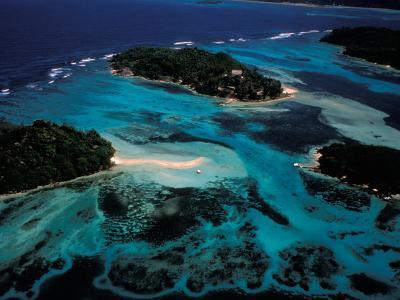 Aerial View of Ste Anne Marine National Park, Seychelles-Nik Wheeler-Photographic Print