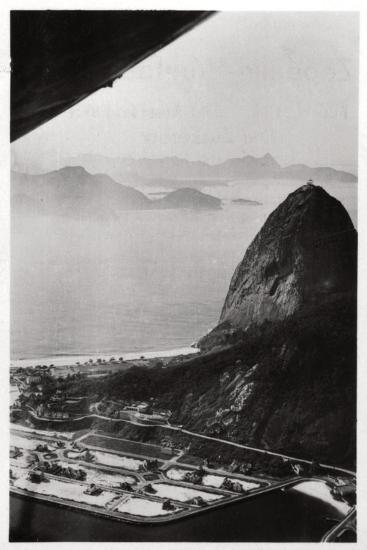 Aerial View of Sugarloaf Mountain, Rio De Janeiro, Brazil, from a Zeppelin, 1930--Giclee Print