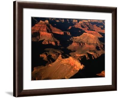 Aerial View of Sunlight Illuminating the Canyon Rims, Grand Canyon National Park, USA-Mark Newman-Framed Photographic Print