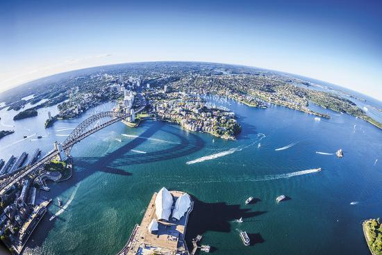 Aerial View of Sydney-Berthold Dieckfoss-Giclee Print