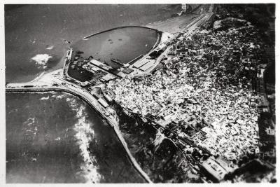 Aerial View of Tangier, Morocco, from a Zeppelin, 1930--Giclee Print
