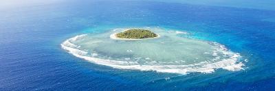 Aerial View of Tavarua, Heart Shaped Island, Mamanucas Islands, Fiji-Matteo Colombo-Photographic Print