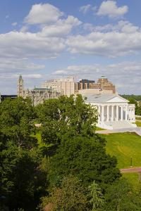 Aerial view of the 2007 restored Virginia State Capitol, designed by Thomas Jefferson who was in...