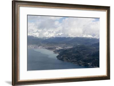 Aerial View of the Andes Mountains Surrounding Ushuaia, Argentina, South America-Michael Nolan-Framed Photographic Print