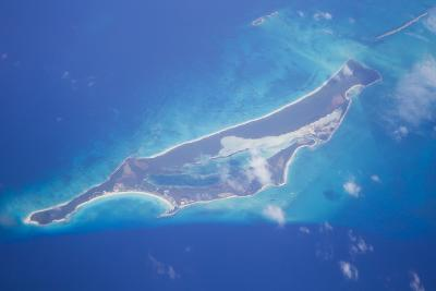 Aerial View of the Bahama Islands and the Surrounding Caribbean Sea-Mike Theiss-Photographic Print