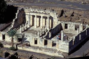 Aerial View of the Capernaum Synagogue Ruins