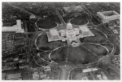 Aerial View of the Capitol, Washington Dc, USA, from a Zeppelin, 1928--Giclee Print