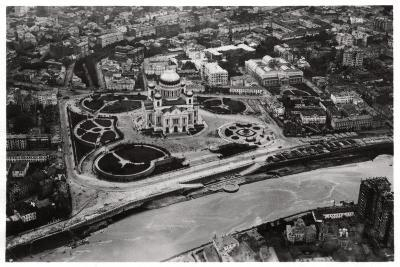 Aerial View of the Cathedral of Christ the Saviour, Moscow, USSR, from a Zeppelin, 1930--Giclee Print