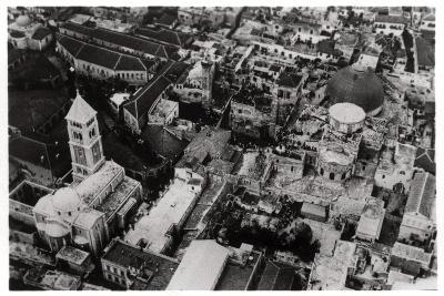 Aerial View of the Church of the Holy Sepulchre, Jerusalem, Palestine, from a Zeppelin, 1931--Giclee Print
