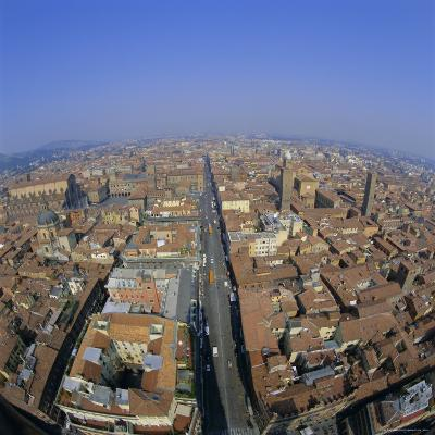 Aerial View of the City, Bologna, Emilia-Romagna, Italy, Europe-Tony Gervis-Photographic Print
