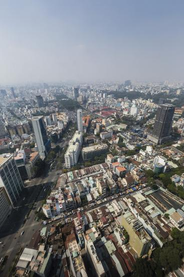 Aerial View of the City of Ho Chi Minh City (Saigon), from the Bitexco Financial Tower, Vietnam-Michael Nolan-Photographic Print