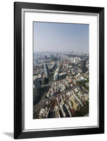 Aerial View of the City of Ho Chi Minh City (Saigon), from the Bitexco Financial Tower, Vietnam-Michael Nolan-Framed Photographic Print