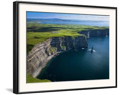 Aerial View of the Cliffs of Moher on the West Coast of Ireland-Chris Hill-Framed Photographic Print