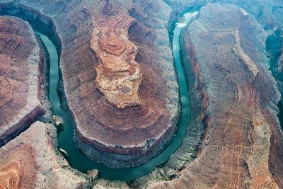Aerial View of the Colorado River Flowing Through the Grand Canyon-Peter Mcbride-Photographic Print