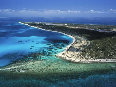 Aerial View of the Coral Barrier Reef Just Off Grand Turk Island-Mauricio Handler-Photographic Print