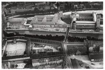 Aerial View of the Deutsches Museum, Munich, Germany, from a Zeppelin, C1931--Giclee Print