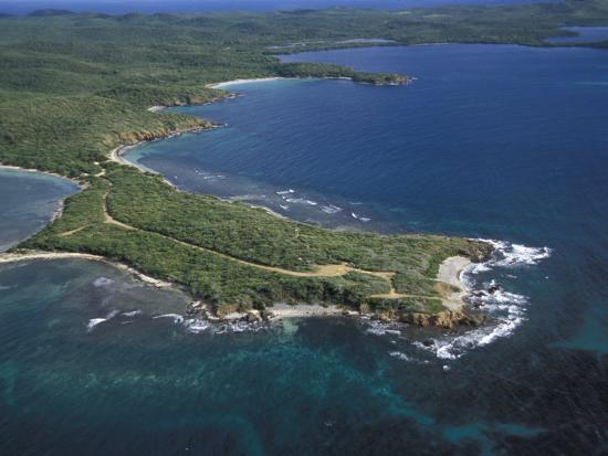 Aerial View of the East End of Vieques Island, Puerto Rico-Scott Warren-Photographic Print