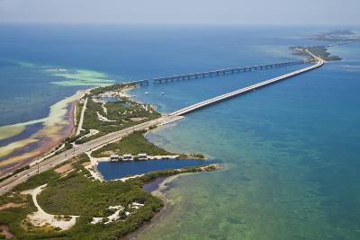Aerial View of the Famous Tourist Destination Bahia Honda Bridge and State Park-Mike Theiss-Photographic Print