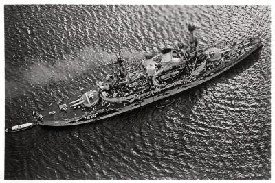 Aerial View of the German Battleship Sms 'Schlesien, from a Zeppelin, C1931--Giclee Print