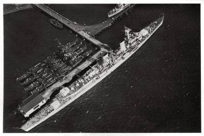 Aerial View of the German Light Cruiser 'Karlsruhe, from a Zeppelin, C1931--Giclee Print
