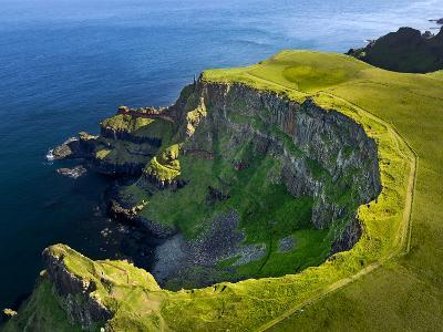 Aerial View of the Giant's Causeway in Northern Ireland-Chris Hill-Photographic Print
