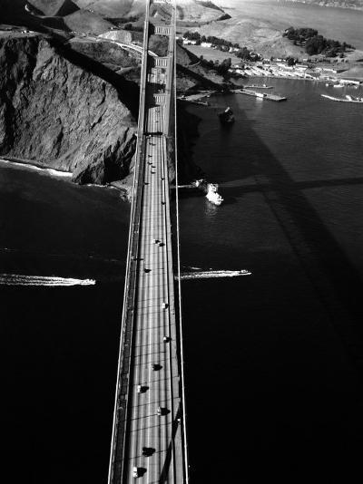 Aerial View of the Golden Gate Bridge-Margaret Bourke-White-Photographic Print