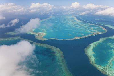 Aerial View of the Great Barrier Reef, Queensland, Australia-Peter Adams-Photographic Print