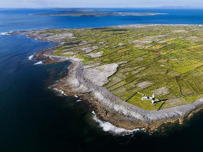 Aerial View of the Island of Inisheer and the Aran Islands, Ireland-Chris Hill-Photographic Print