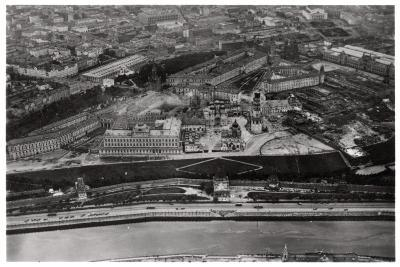 Aerial View of the Kremlin, Moscow, USSR, from a Zeppelin, 1930--Giclee Print