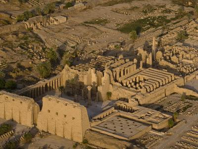 Aerial View of the Large Temple Complex at Karnak-Michael Polzia-Photographic Print