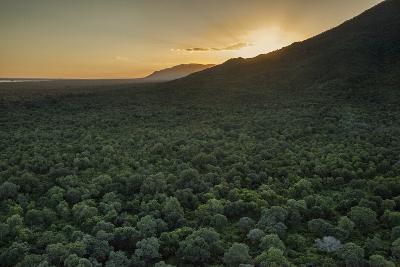 Aerial View of the Lower Zambezi Valley Escarpment in Zambia-Matthew Hood-Photographic Print